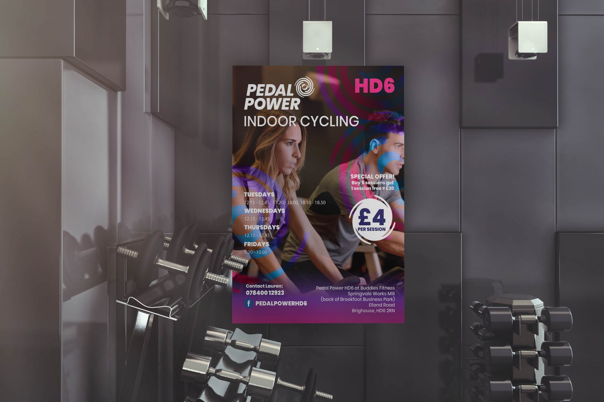 Large Poster Design for Gym Classes