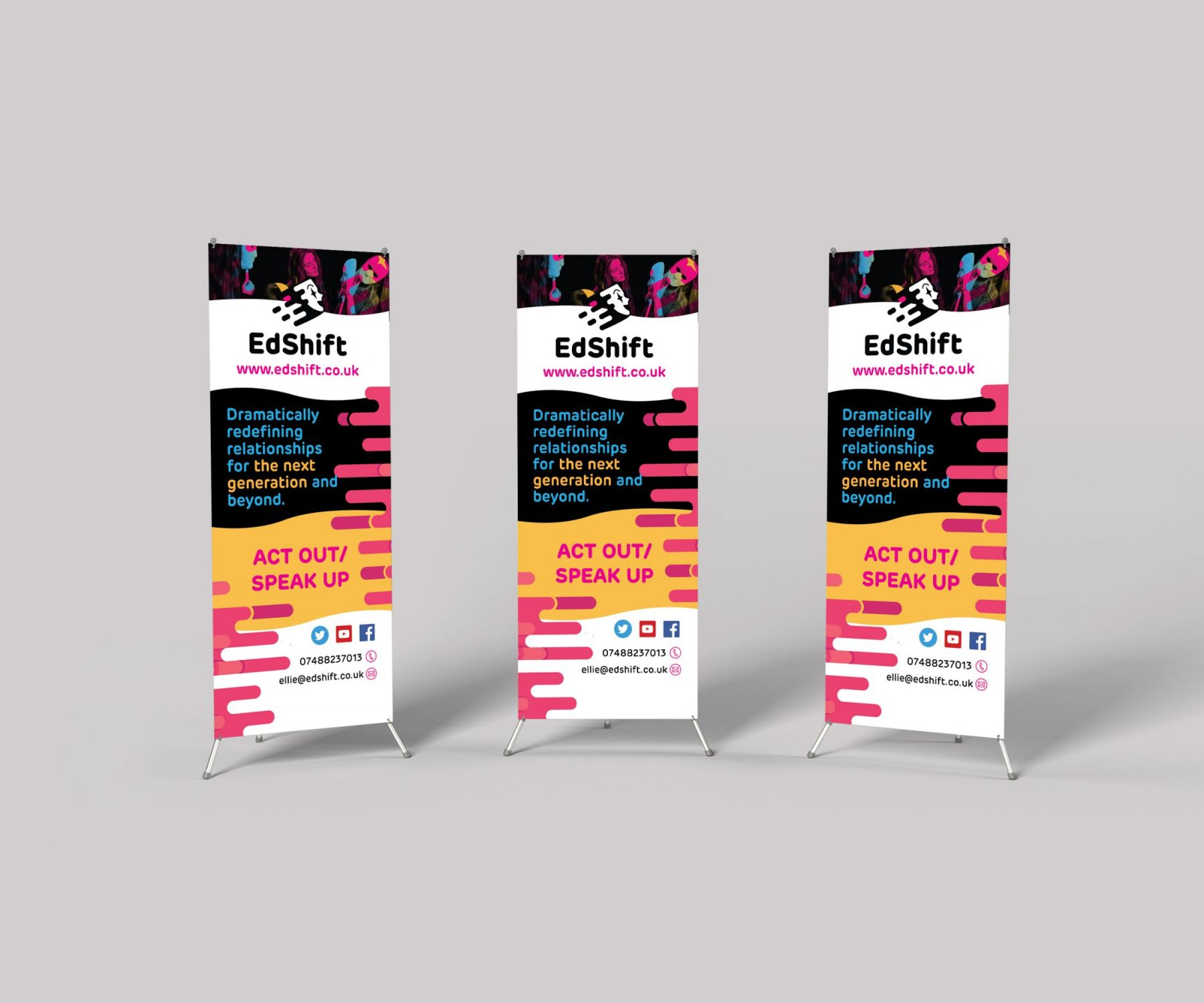 Roller banner and Pull up banner Design for charity organisation in Halifax