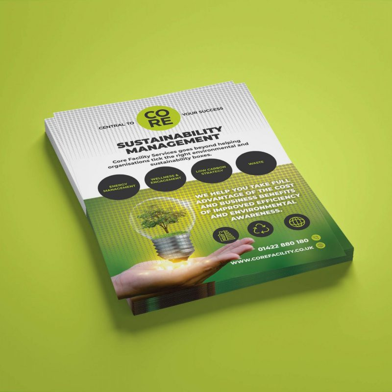 A5 Double sided flyer design for Waste management business in huddersfield